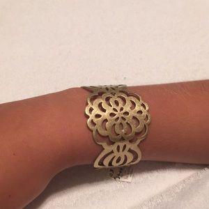 Lia Sophia cuff flower bracelet gold